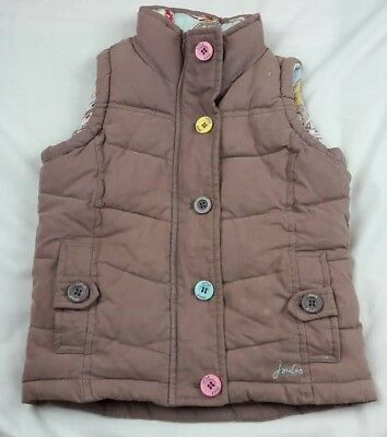 Little Joule Girls Padded Gillet/Sleeveless Jacket Age 4