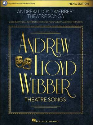 Andrew Lloyd Webber Theatre Songs Mens Edition Vocal Sheet Music Book/Audio