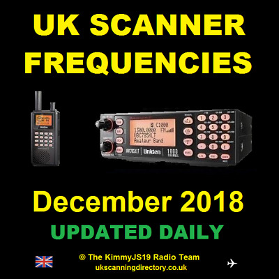 UK SCANNING DIRECTORY December 2018 - Scanner Frequencies CD (Fully Updated)