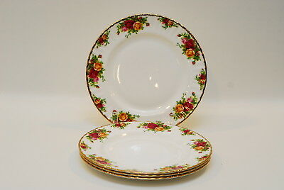4 Royal Albert Old Country Roses DINNER PLATE PLATES Indonesia 10.5 Inch