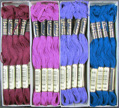 48x Needlepoint/Embroidery THREAD Anchor Cotton Floss-Mixed Lot-TX185