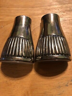 Vintage Silver Plated Salt and Pepper Shakers   Art Deco. Mid Century.