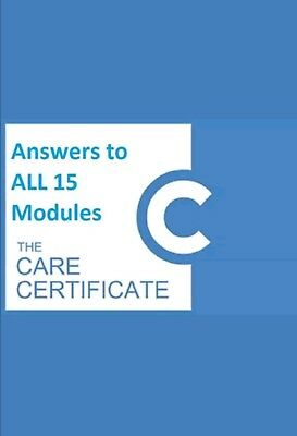 Care certificate official Answers Legitimate PASS send by email