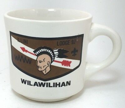 BSA Boy Scout Illini Lodge 92 Wilawilihan Mug Vintage Arrow Cup