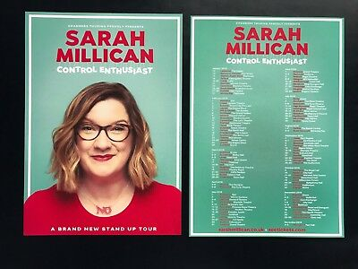 4x SARAH MILLICAN promo FLYERS live 2018 UK Control Enthusiast comedy tour