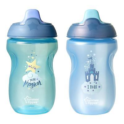 Toddler Baby Infant No Spill Spout Sippy Cup 10 Ounce 9+ Blue Green Boys 2 Pack
