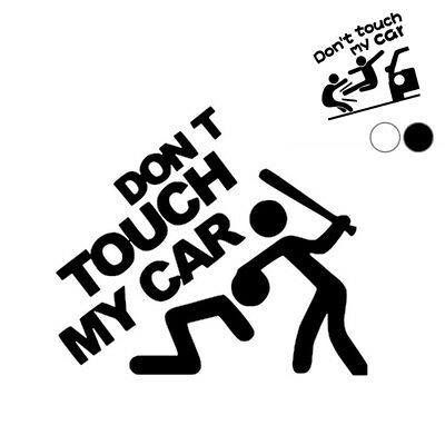 """Self Adhesive Car Sticker Creative""""Don't touch my car"""" Pattern Car Sticker New"""