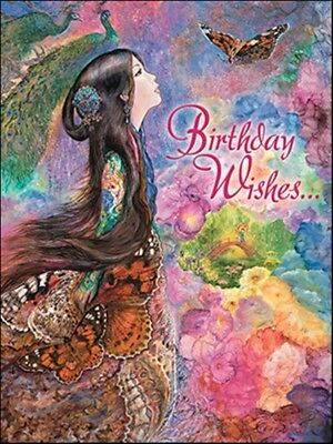 Leanin' Tree Pack of 6 Deluxe Birthday Greeting Cards Butterfly Wings
