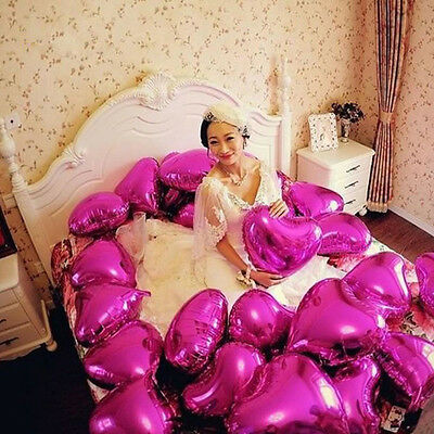 5/10pcs 18'' Heart Foil Helium Balloons For Wedding Birthday Party Engagement FE