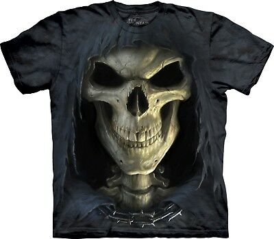 Big Face Death Skull T Shirt Adult Unisex The Mountain