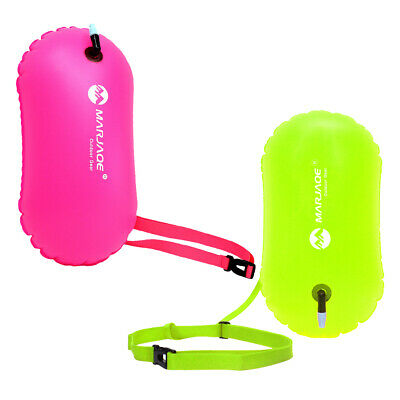 2Pc Open Water Swim Buoy Safety Swim Bag for Snorkelers Triathletes Swimmers