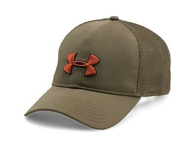 Under Armour 1271285 Men's Hat Classic Mesh Back Cap Heatgear Sweatband Hunt ^