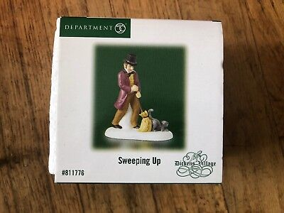 Dept 56 sweeping up dickens' village Rare & retired, #811776 MIB!!! New