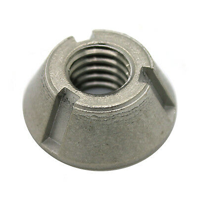 8mm M8 x 1.25 T-Groove Tamper Proof Security Nut Stainless Tri-Groove Anti-Theft