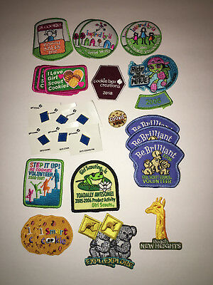 Girl Scout Cookie Sale Misc. years patches and pins, new/never been used.