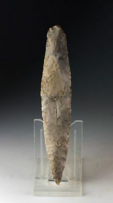 *SC*A NEARLY SUPERB DANISH NEOLITHIC FLINT DAGGER TYPE I, c. 2200-2000 BC