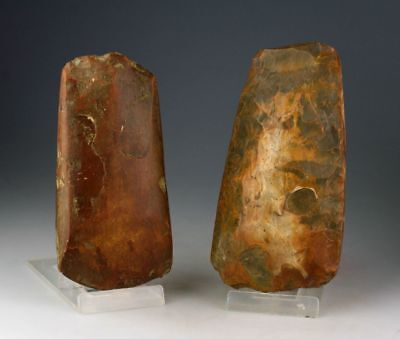 *sc*a Nice Pair Of Thinbutted Neolithic Axes, Silex 4000-3000 Bc!!