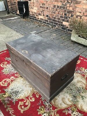 Victorian/19th Century Stained Pine Chest/Trunk