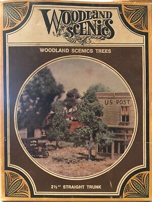 "Woodland Scenics HO Scale Tree Kit TK13 Five 2.5"" Straight Trunk NEW"