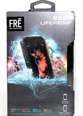 Authentic LifeProof Fre Series Waterproof Case For iPhone 5S/5 & SE Black