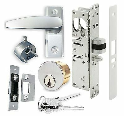 Adams Rite Kawneer Type Storefront Door Dead Latch, Lever Handle & Lock Cylinder