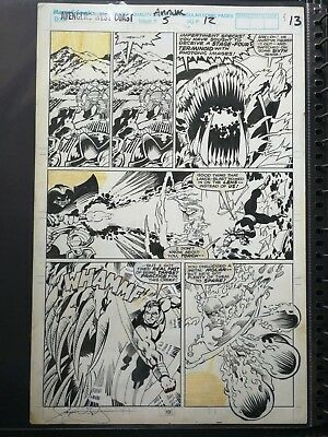 1990 James Fry Avengers West Coast Annual 5 Page 13 Human Torch Original Comic