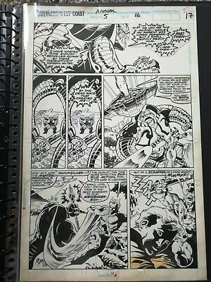 1990 James Fry Avengers West Coast Annual 5 Page 17 Quicksilver Hawkeye Original