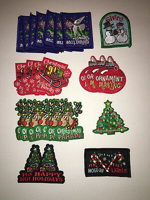 Girl Scout Christmas Holiday Patch Lot. New/never been used.