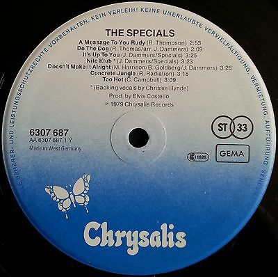 The Specials West German Lp 1979 Mod Revival Skinhead Rude Boy Girl Ska Two Tone