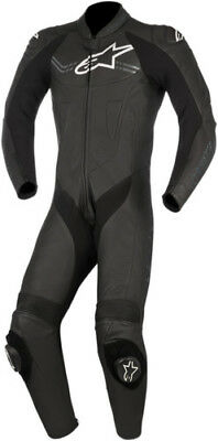 Alpinestars Challenger One Piece Motorcycke Leather V2 Suit Black 60 2801-1198
