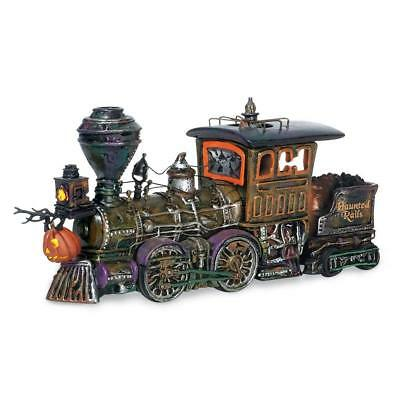 Haunted Rails Engine & Coal Car Dept 56 Snow Village Halloween 800001 train Z
