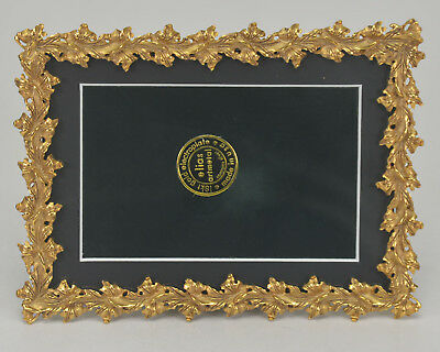 "Elias Artmetal Gold Plated 5"" x 7"" Maple Leaves Picture Frame Style #2269G"