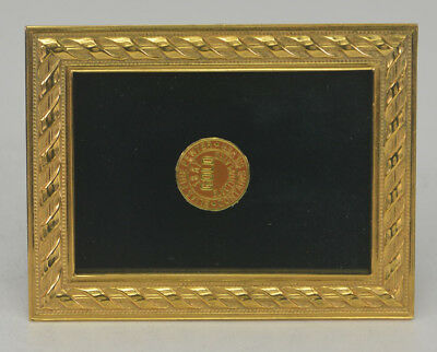 "Elias Artmetal Gold Plated 2 1/2"" x 3 1/2"" Rope Picture Frame Style #2001G"