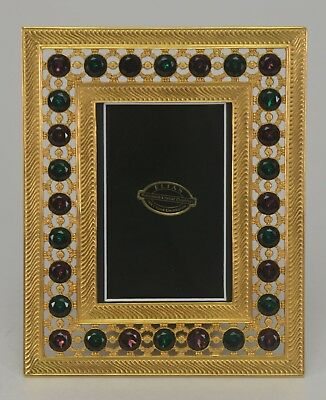 "Elias Artmetal Gold Plated Crystal 4"" x 6"" Picture Frame Style #5014G"