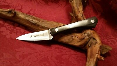 """Vintage Nos! Ag Russell Woodswalker Knife Hunting Fixed Blade~ 6""""~Cool!"""