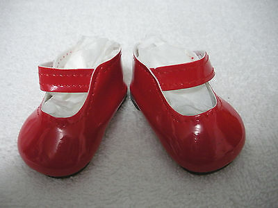 """Fits 15"""" Tiny Chatty Baby Doll - Red Patent Leather Mary Janes - Shoes - D1369"""