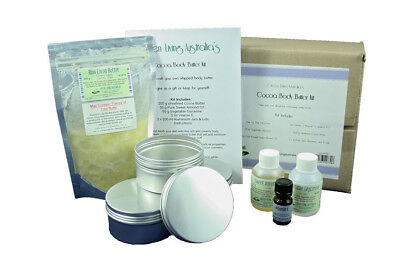 Home made DIY Body Butter Kit - Cocoa Butter moisturizer lotion