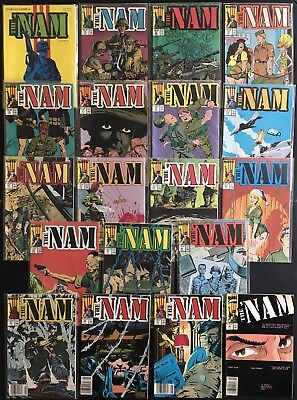 THE NAM 1-4, 11-12, 15-27, 30-31, 43. Marvel Copper Age War Comics. Ships Free