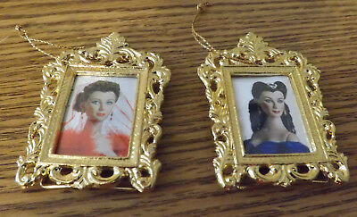Scarlett O'Hara Gone with the Wind Miniature Portrait Ornaments of Tonner Dolls