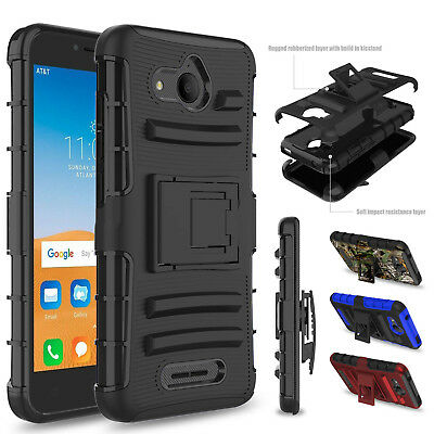 For Alcatel Tetra 6753B 5041C 5041 Shockproof Case Stand Holster Belt Clip Cover