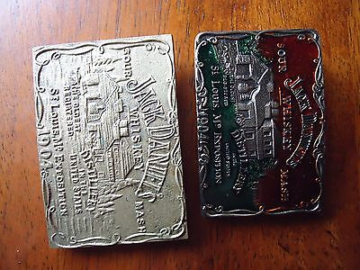 Belt Buckle Jack Daniels lot of (2) Alcohol, Whiskey, Food/Drink, Rocker Biker