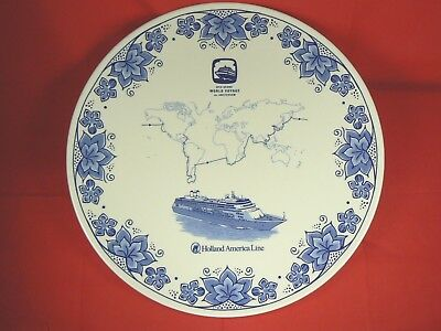 Delft Porcelain Holland America Lines 2010 Grand World Voyage MS Amsterdam Plate