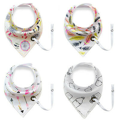 4Pcs Infant Baby Kids Burp Feeding Bibs Saliva Towel Dribble Triangle Bandana