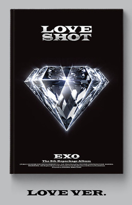 EXO-[Love Shot] 5th Repackage Love CD+1Poster+72p Booklet+1pCard+Gift+Tracking