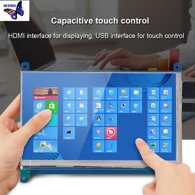 """7"""" Capacitive Touch Screen LCD Display IPS 1024x600 HDMI+Screws For Raspberry Pi"""