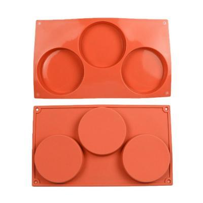 Round Cylinder Silicone Mould Soap Cake Chocolate Pudding Mold DIY Baking Tray