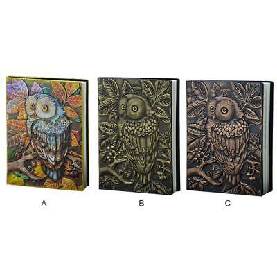 Vintage Diary Journal Notebook Blank Book Owl Tree PU Leather Classic Cover UK