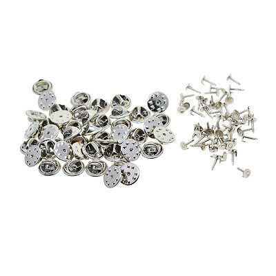 50 Sets Tie Tack Butterfly Pinch Back Pins Clutch Back Lapel Scatter Pin