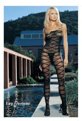 Lot of 99 - Leg Avenue Criss Cross Bodystocking - Style 8643 Black - One Size