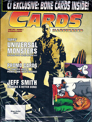 Cards Illustrated #4 Universal Monsters, DC Universe + CI Bone Cards ~ Sealed!